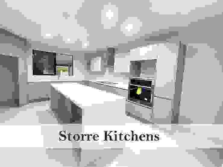Större Kitchens Built-in kitchens Quartz White