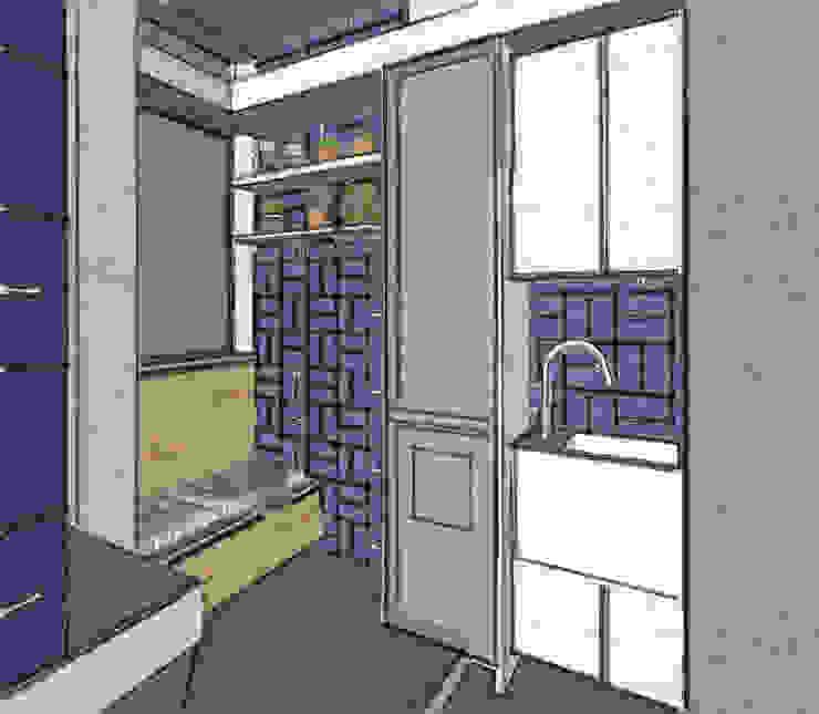 PROJETOS ON LINE Cozinhas modernas por Maria Claudia Faro Moderno