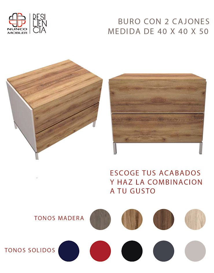 Nunco Mobler BedroomBedside tables Chipboard Wood effect