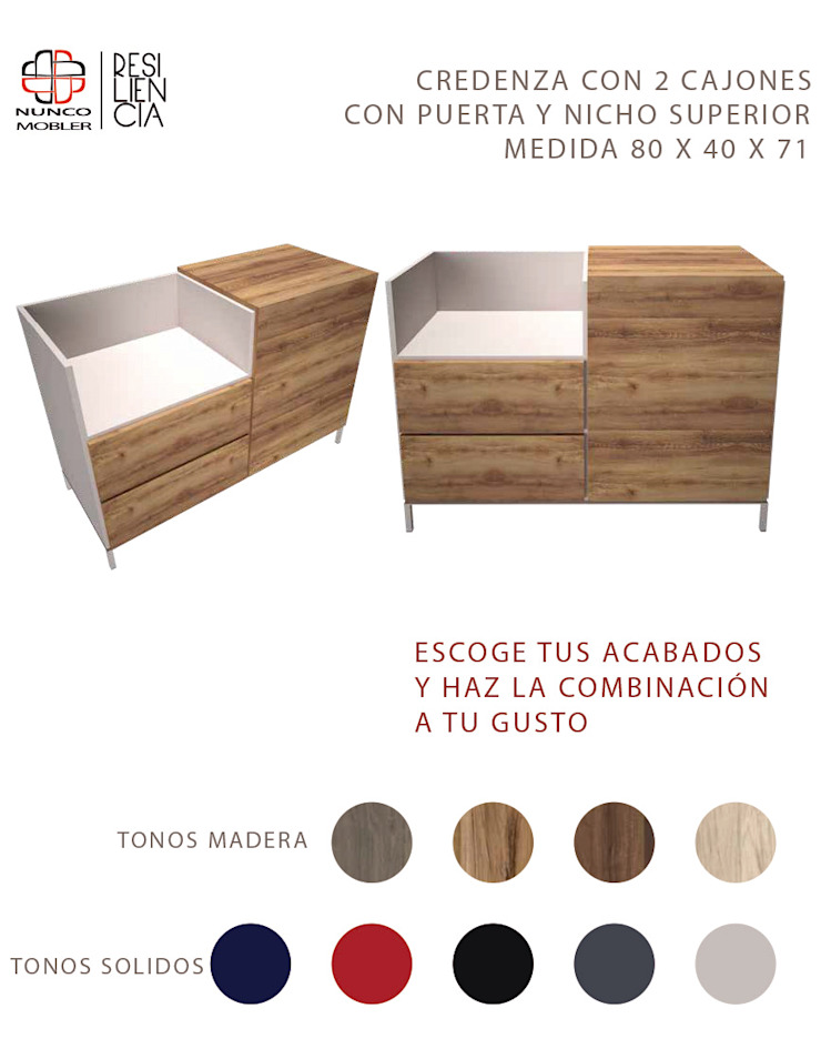 Nunco Mobler Dining roomDressers & sideboards Chipboard Wood effect
