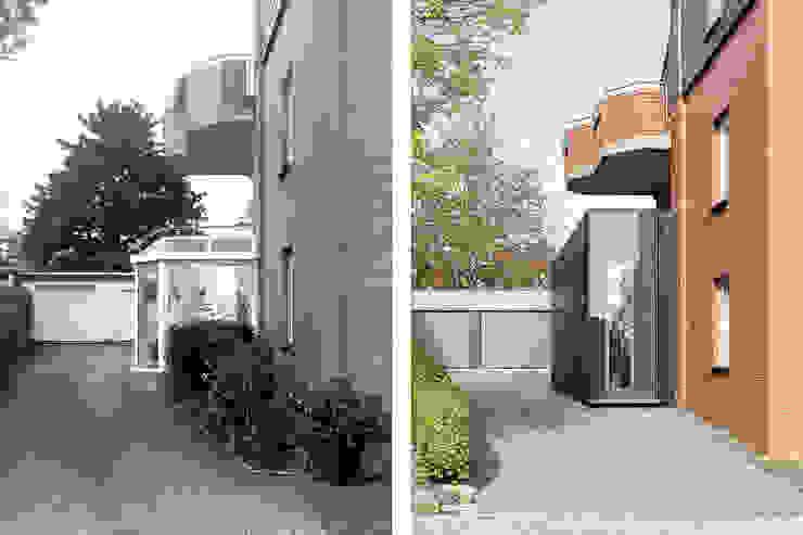 Vorher - Nachher von ZHAC / Zweering Helmus Architektur+Consulting Modern Holzwerkstoff Transparent