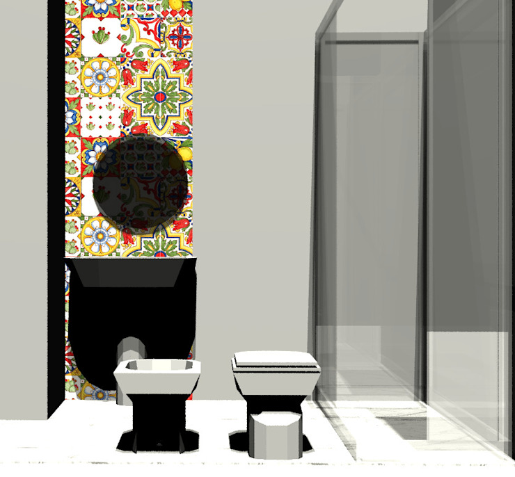Casa Ideale Aetneas Design Bagno in stile mediterraneo