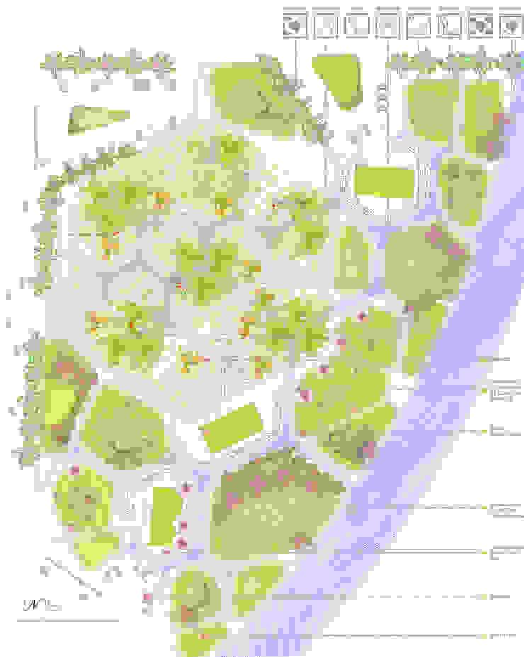 Planimetría y urbanización de la parcela del Concurso Centro Ecoturístico Río Zahuapán Ana Cabo