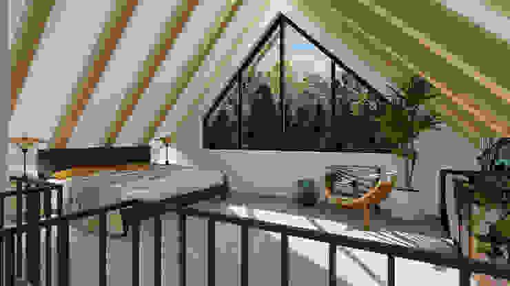 """""""Altes Häuschen"""" Schlafzimmer im Dachgeschoss MITKO DESIGN Moderne Schlafzimmer"""