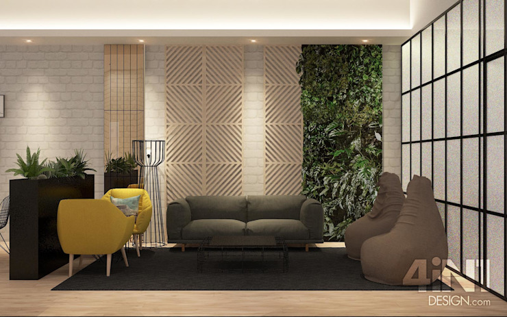 Impian Emas Office four in one design sdn bhd Modern living room
