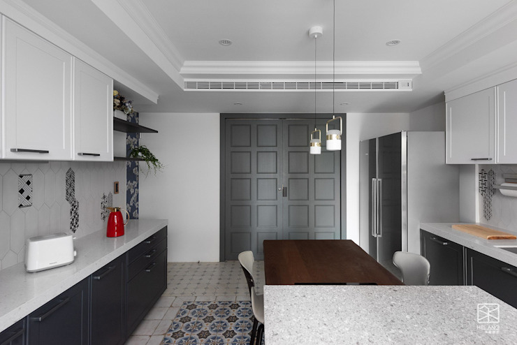 雙門設計 禾廊室內設計 Kitchen
