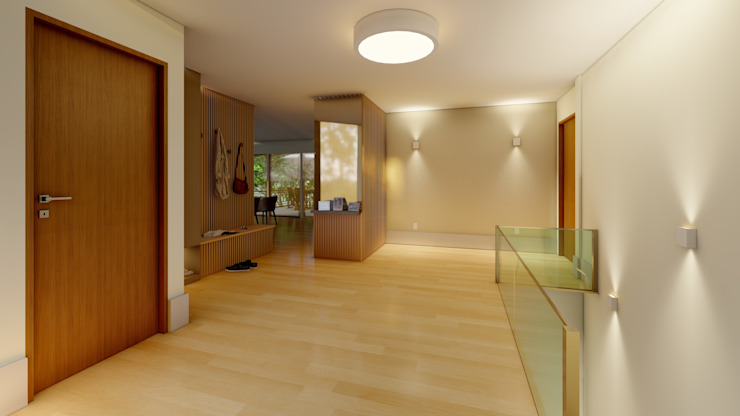 Elaine Hormann Architecture ห้องโถงทางเดินและบันไดสมัยใหม่