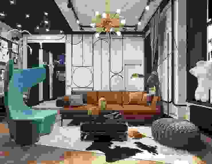 Сюрреалистический лофт от Lares Design Lares Design Гостиная в стиле лофт