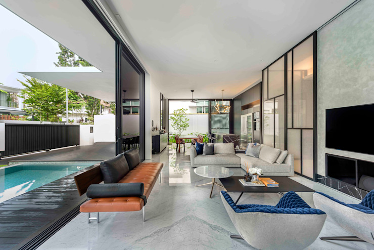 Eave House ming architects Modern living room