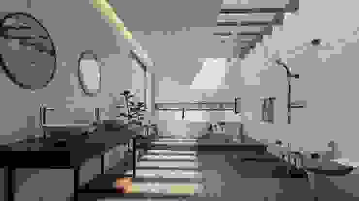 CASA MODELO ConstruTech & Technology BIM Baños minimalistas Concreto