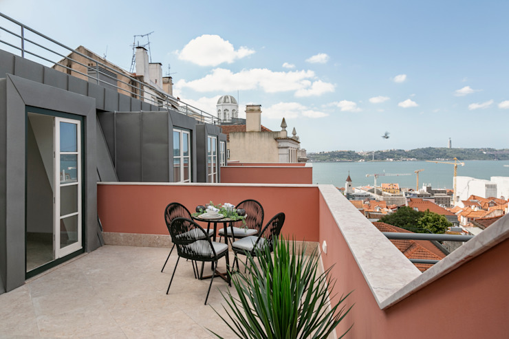 Hoost - Home Staging Balconies, verandas & terraces Furniture