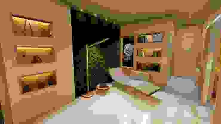 Lugar de lectura y relax Aida tropeano& Asociados Salas de estilo moderno Contrachapado Beige
