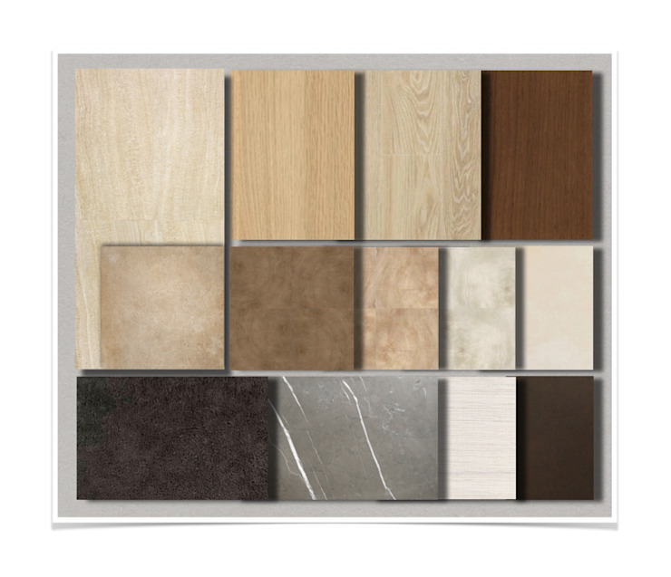 Materials Board: modern  by M2A Design, Modern