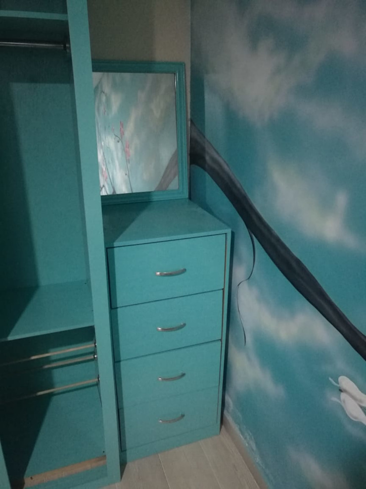 Pablo´S BedroomWardrobes & closets Parket Blue