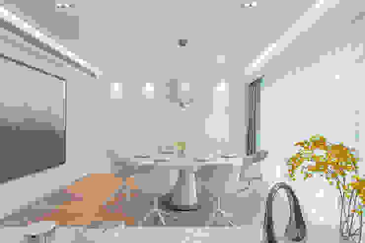 Grande Interior Design Comedores de estilo minimalista Blanco