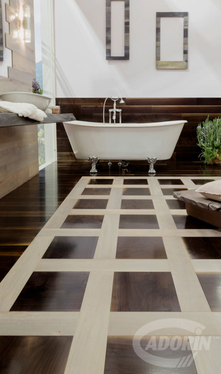 Pear & Walnut Cadorin Group Srl - Italian craftsmanship production Wood flooring and Coverings Modern Bathroom