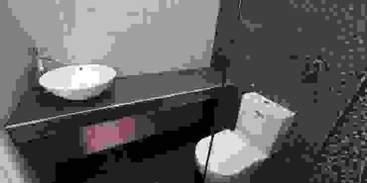 pormenor da bancada do lavatório, com remate cromado na esquina IIP - Reabilitação e Construção