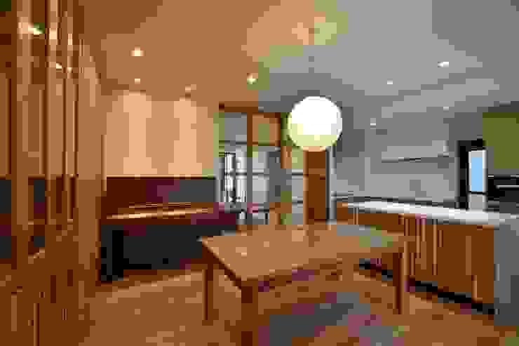 ダイニング・キッチン Style Create 和風デザインの ダイニング 木目調