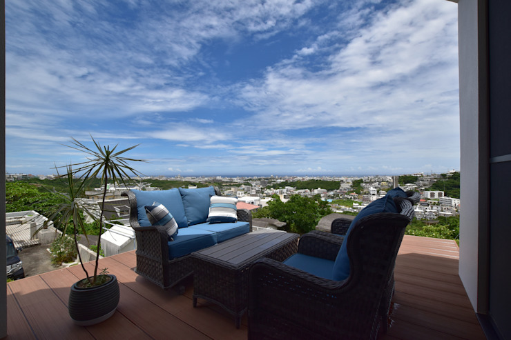 Style Create Modern balcony, veranda & terrace
