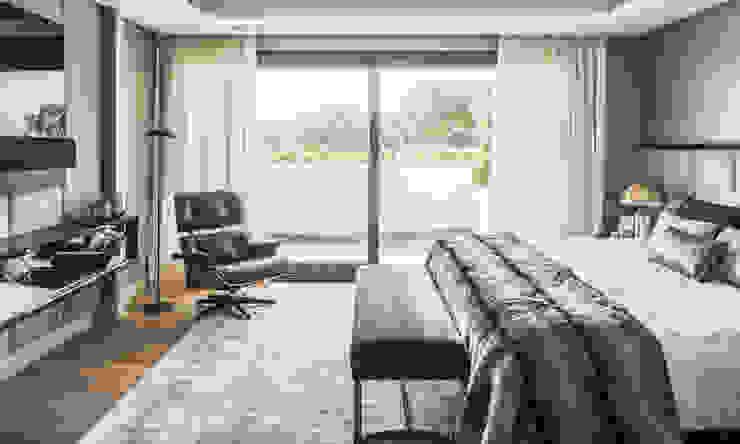 BANCO PIE DE CAMA LALZADA INTERIORISMO S.L. DormitoriosAccesorios y decoración Plata/Oro Gris