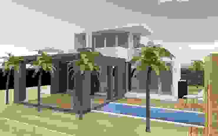 Buitenaanzicht van MEF Architect Modern Beton
