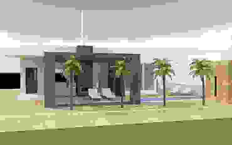 Villa (een etage) van MEF Architect Modern Beton