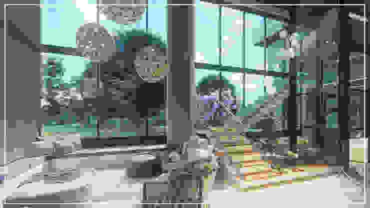 Sala de Tv por Juan Jurado Arquitetura & Engenharia Moderno Madeira maciça Multi colorido