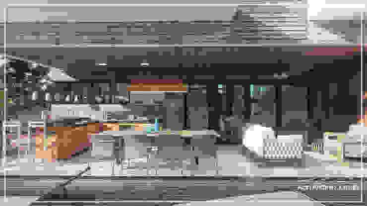Área Gourmet Juan Jurado Arquitetura & Engenharia Varandas, alpendres e terraços modernos Madeira