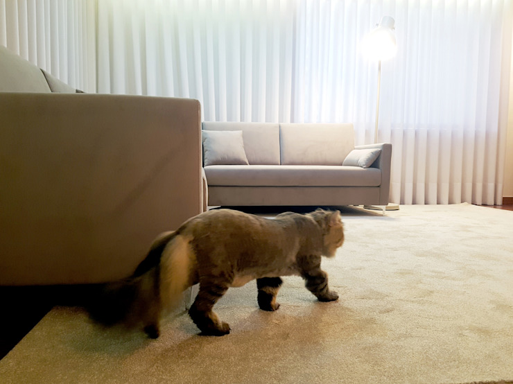 Sofá Óscar- 6300€ Salas de jantar minimalistas por MIA arquitetos Minimalista