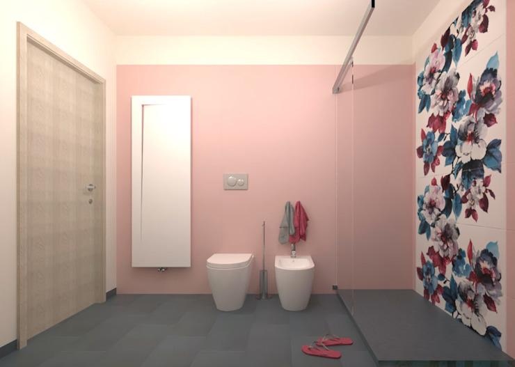 Abitare Modern style bathrooms Ceramic Pink