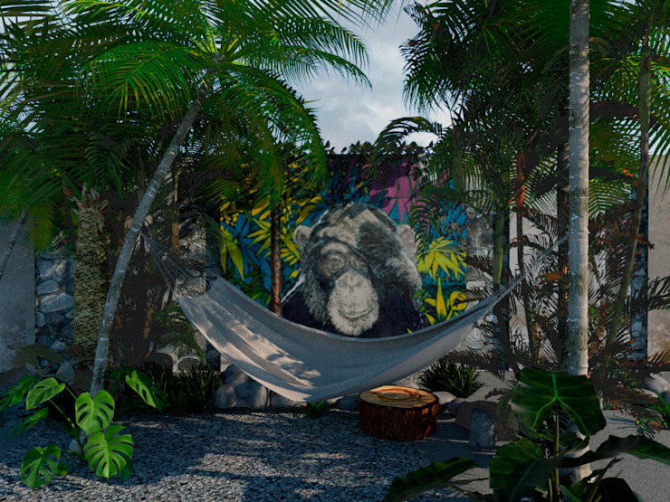 Área de hamacas MÓDULO A+C Hoteles de estilo tropical