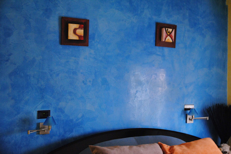Pintores Juan Jiménez Modern style bedroom Marble Blue