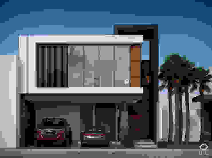 Casa PASEOS DEL SOL: Fachada Principal - Día de Constructora OCC Moderno