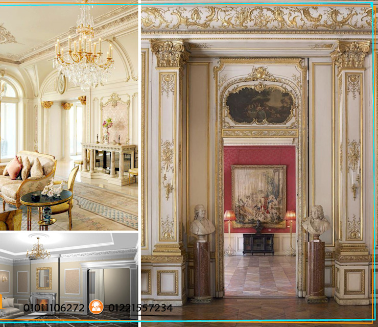 Classic Interior Design With Castle For Decoration In Egypt Homify