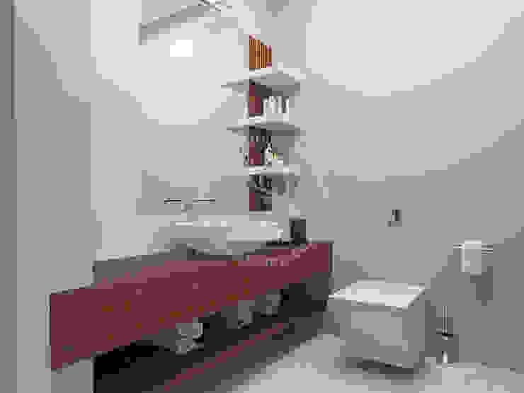 İMHOTEP COUNTRY FURNİTURE Proje Tasarım&Aydınlatma Salle de bain moderne OSB Effet bois