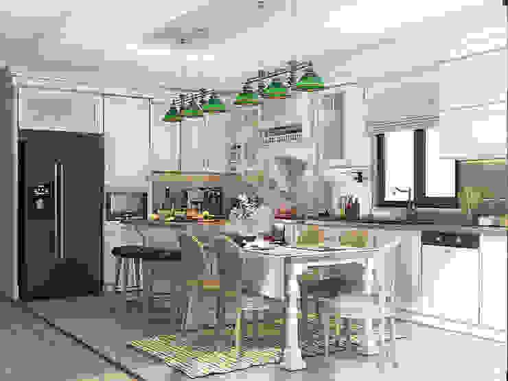 Tasarım Mutfaklar İMHOTEP COUNTRY FURNİTURE Proje Tasarım&Aydınlatma Kırsal Mutfak Masif Ahşap Beyaz
