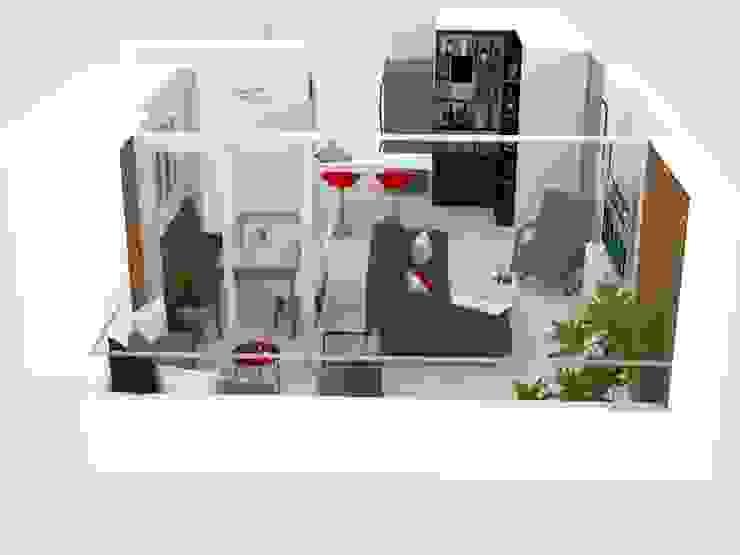 Apartamento Reservas del Río Decó ambientes a la medida Salones de estilo moderno