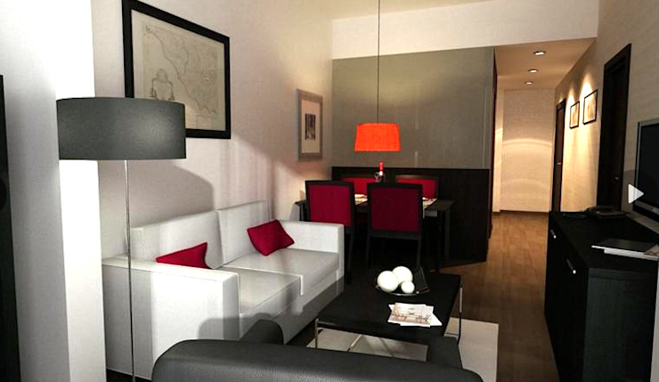 SALA Salones de estilo moderno de FARRIOL i COL.LABORADORS arquitectes Moderno