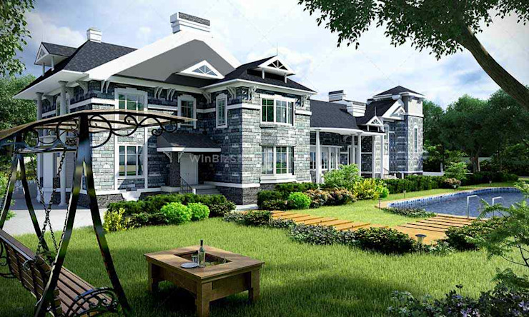 House 3D Model Modern houses by WinBizSolutionsIndia Modern