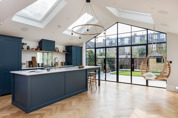 Rear extension, loft conversion and full house renovation Modern kitchen by Proficiency Modern