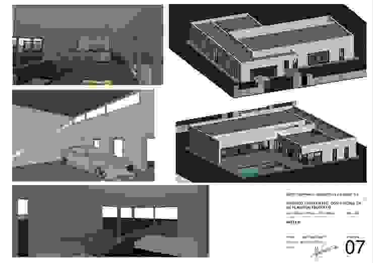 VISTAS 3D VIVIENDA de BONFILL INGENIERÍA, ARQUITECTURA Y PAISAJE S.L. Moderno Hormigón
