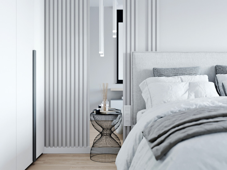 ЖК Селигер Сити Спальня в стиле минимализм от Мария Ничипоренко Минимализм