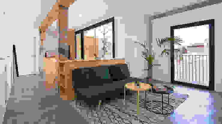 Reforma integral ático en plaza de Gracia (Granada) CMYK Arquitectos Salones de estilo moderno