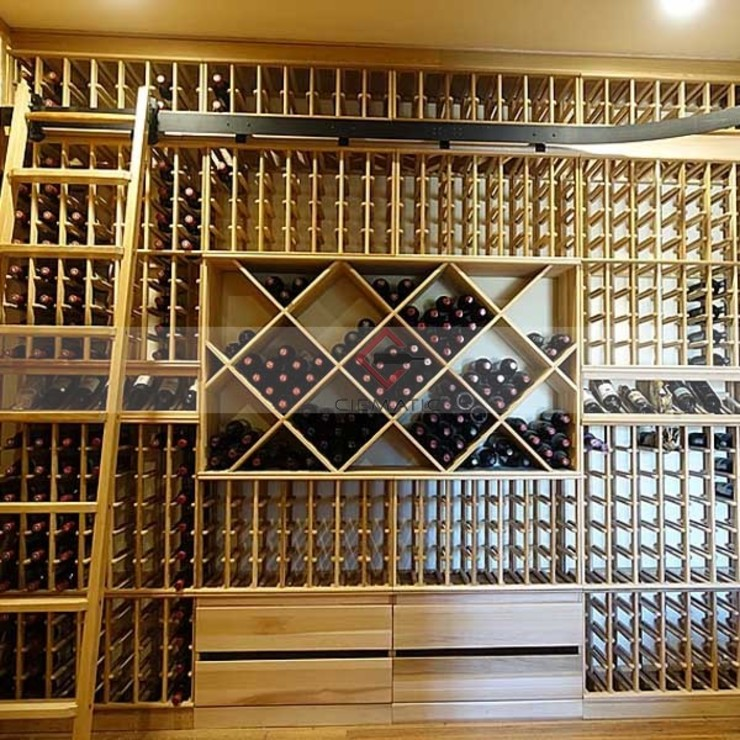 island racking renderings CieMatic Wine cellar