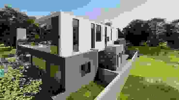 Service area of residence FRANCOIS MARAIS ARCHITECTS Minimalist garage/shed