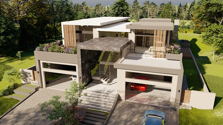 front top view FRANCOIS MARAIS ARCHITECTS Minimalist house