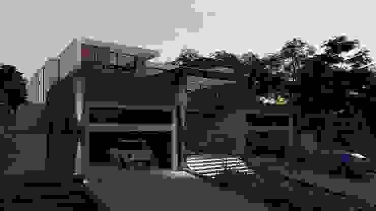 Entrance view FRANCOIS MARAIS ARCHITECTS Minimalist house