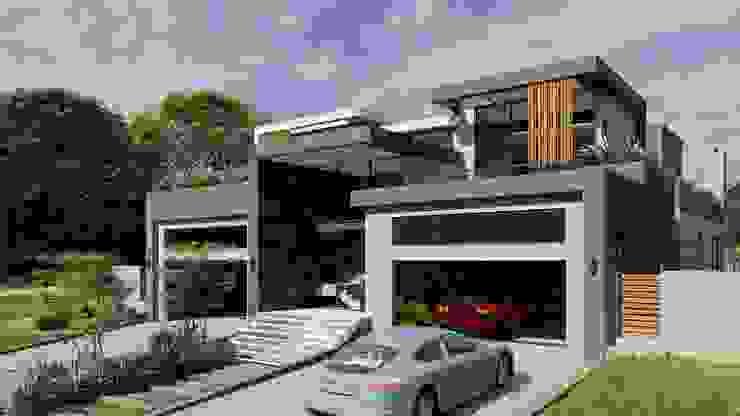 entrance FRANCOIS MARAIS ARCHITECTS Minimalist house