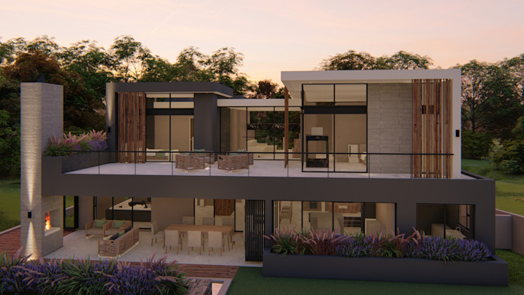 Entertainment area and bedrooms FRANCOIS MARAIS ARCHITECTS Minimalist house