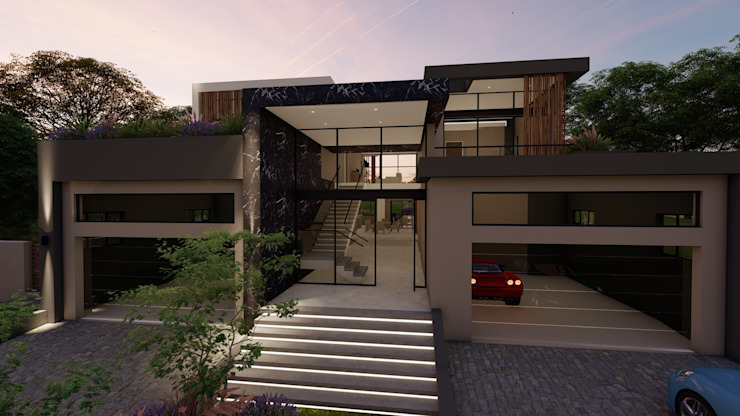 Front facade FRANCOIS MARAIS ARCHITECTS Minimalist house